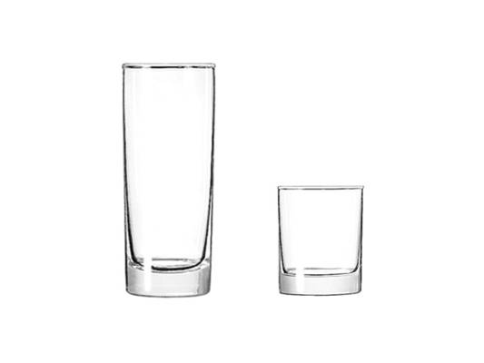 Highball and lowball glasses